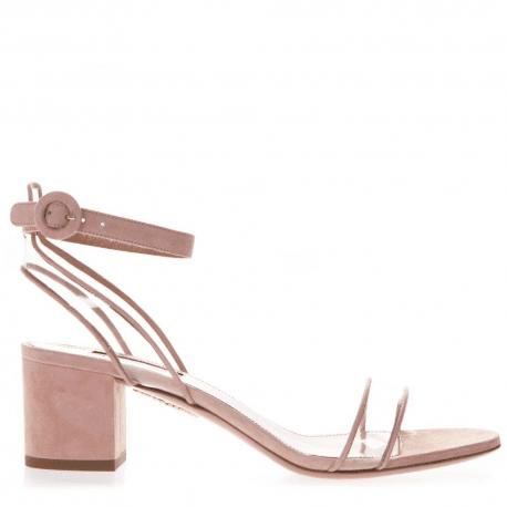Sandales à talon carré en nude  Aquazzura - MINIMALIST SANDAL50