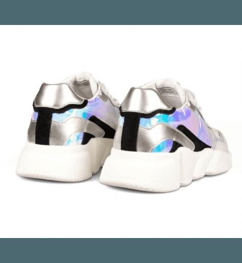 Baskets à semelle débordante SERAFINI - OREGON IRIDESCENT WHITE