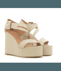 Sandales à semelle compensée beige Robert Clergerie Paris- AMUSE