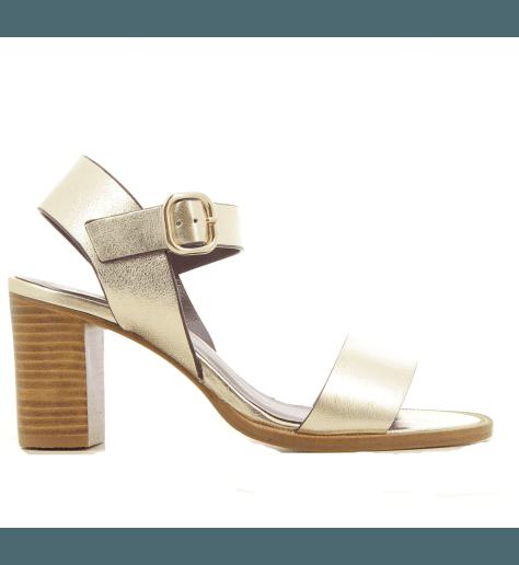 Sandales à talons en cuir platine  Avril Gau - COOL M2N