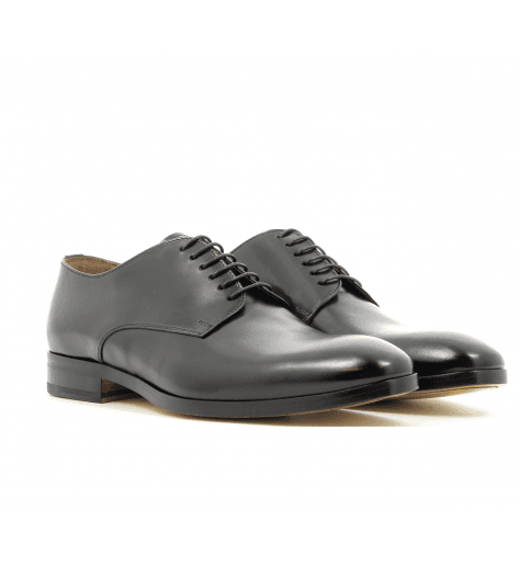Derbies plats en cuir noir 1374UF1 - Doucal's