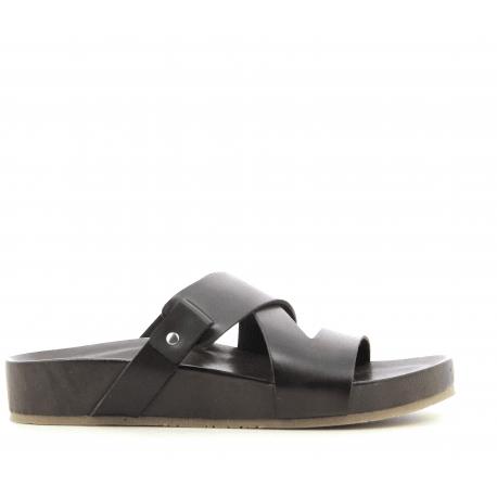 Sandales en cuir noir IBBY - Garrice Collection